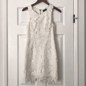 ASTR Floral Lace Midi Dress